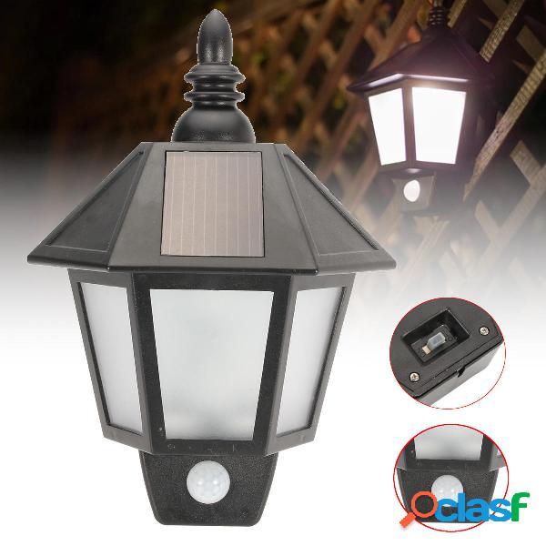 Lanterna da giardino per esterni lampada a parete lampada con sensore di movimento a energia solare lampada