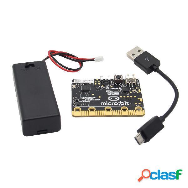 Micro: bit go (pacchetto starter on-the-go) micro: scheda di sviluppo bit + supporto per cavo aaa batteria + cavo usb pe