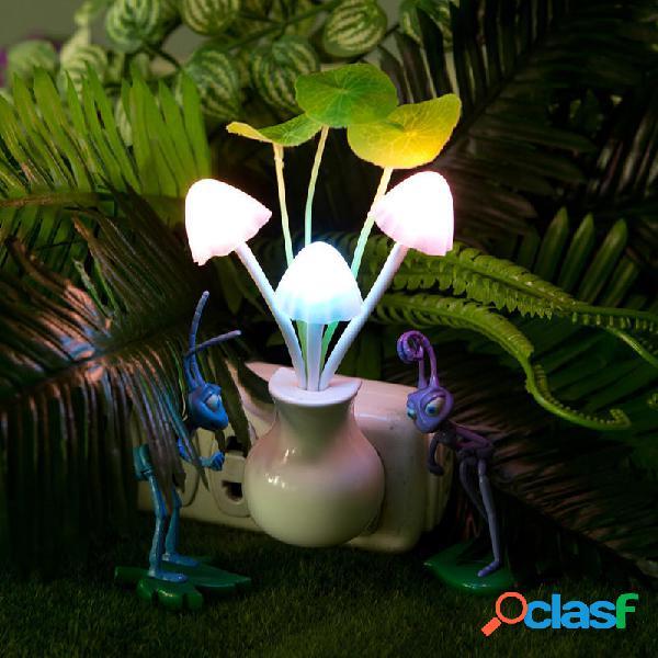 Funghi vaso foglie led la luce di notte oscuramento 7 colori che cambiano il controllo della luce regalo decorazione del