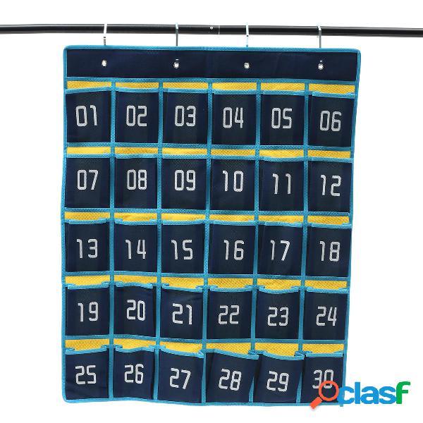 Classroom hanging organizzatore 30 tasche per telefoni cellulari borsa biglietti da visita a parete borsa