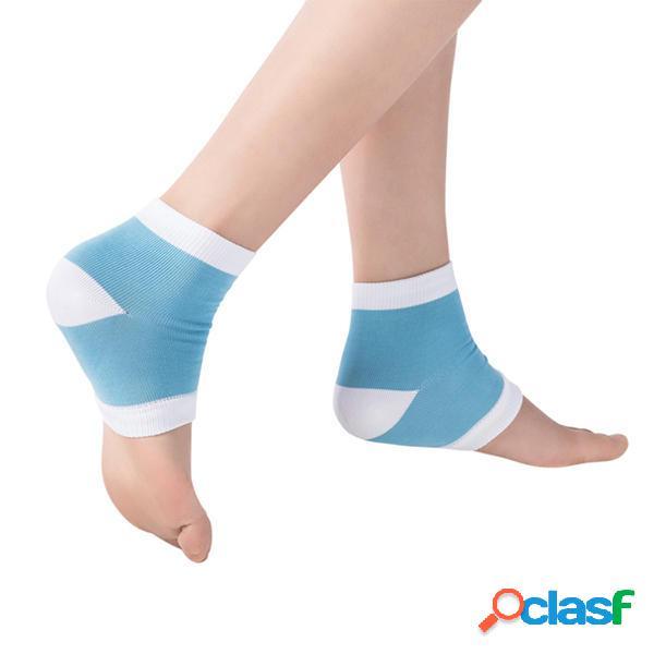Donne anti-cracking gel calze nylon mano respirabile calze silicone piedi protector calze