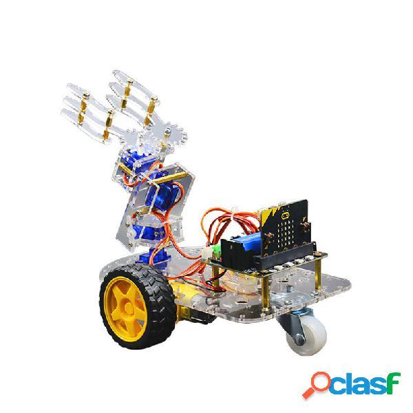 Micro: bit smart robot arm car kit supporto programmazione grafica stem con micro: scheda bit + scheda di espansione rob