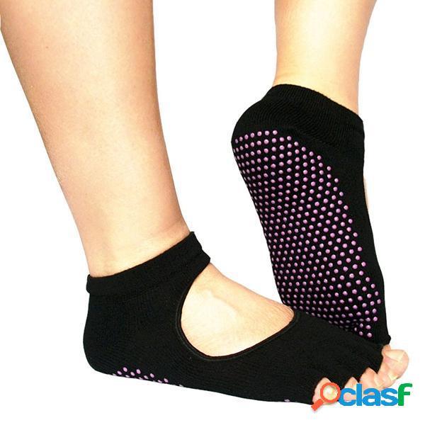 Antiscivolo traspirante per interno nero antiscivolo in cotone yoga calze