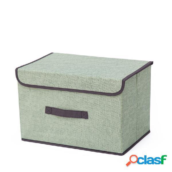 Pieghevole in tessuto scatola pieghevole multiuso per libri di libri di libri giocattoli cestini per custodia di stoccag