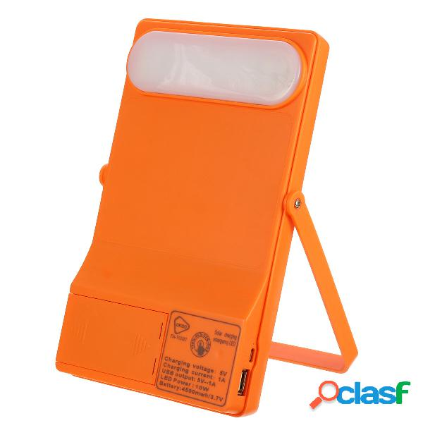Solare portable powered system illuminazione di emergenza esterna usb 3 modalità ip65