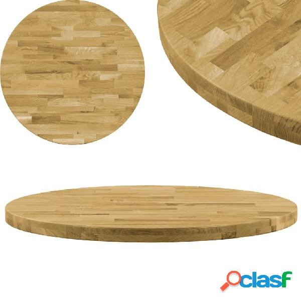 Vidaxl piano del tavolo legno massello di rovere circolare 44mm 900mm