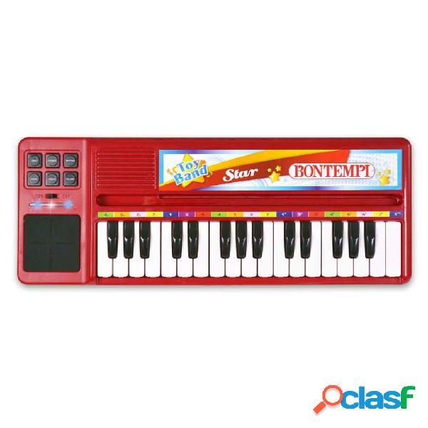 Bontempi tastiera elettronica con 32 tasti rossa