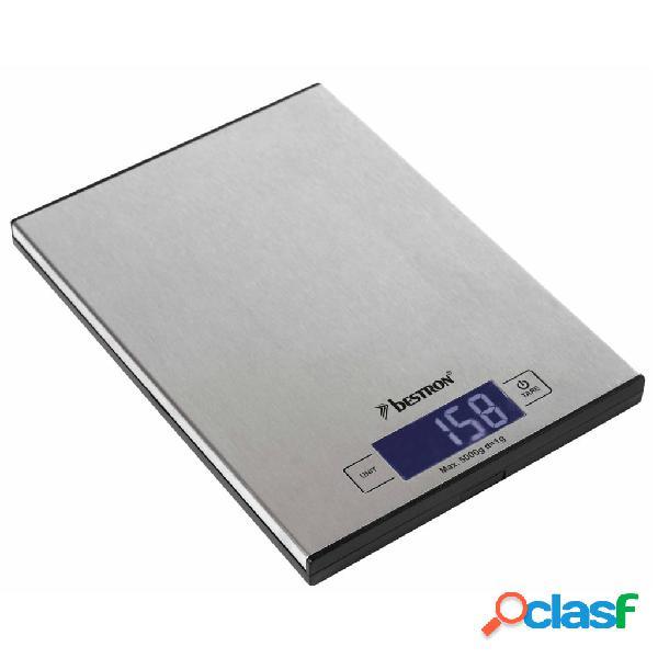 Bestron bilancia da cucina elettronica aks1000s inox 5 kg