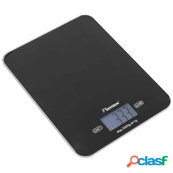 Bestron bilancia da cucina elettronica aks710z nera 5 kg