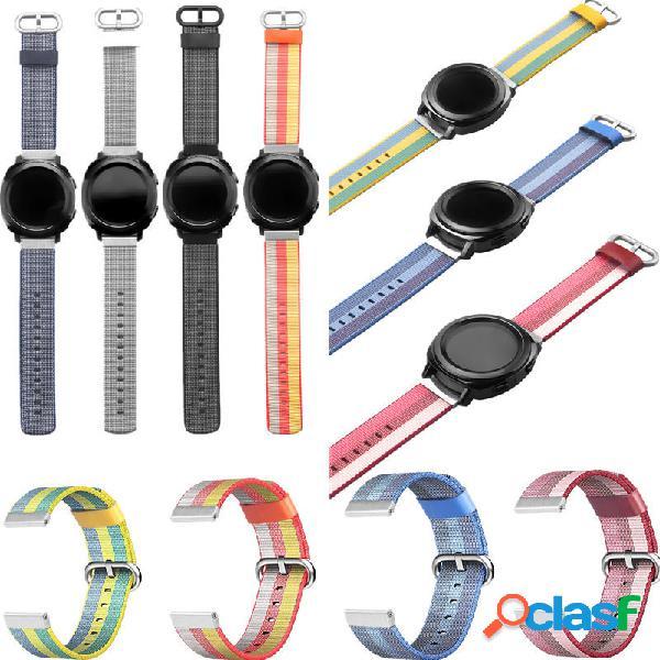 Universal 20mm nylon watch banda cinturino di ricambio per samsung gear 2 classic aamazfit garmin