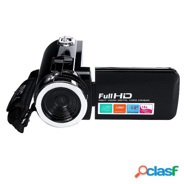 4k full hd 1080p 24mp 18x zoom 3 pollici lcd videocamera digitale video dv fotografica con microfono