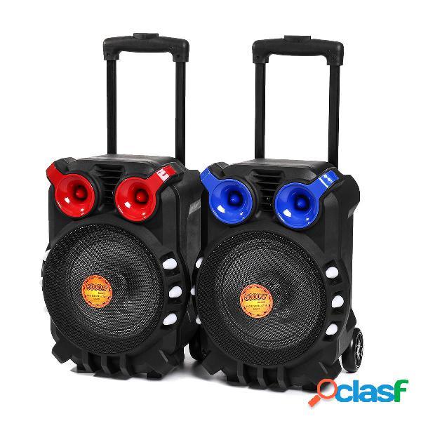 Trolley bluetooth audio speaker light singing tft display usb tf bt sistema karaoke ktv