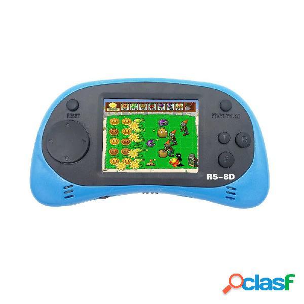 Data frog rs-8d 8 bit 2,5 pollici console per videogiochi portatile lettore di giochi portatile 260 giochi retrò incorpo