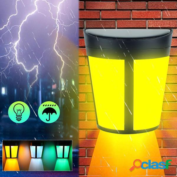 6 led solare potenza applique da parete impermeabile esterno da giardino di sicurezza lampada
