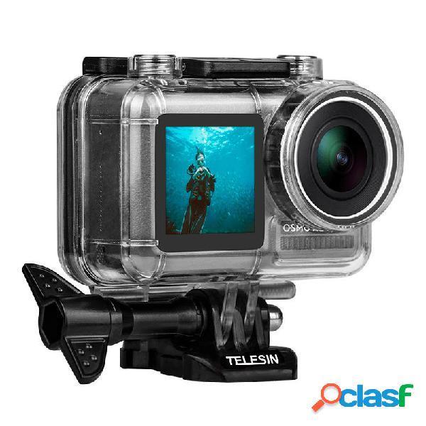 Telesin os-wtp-002 custodia protettiva impermeabile per immersioni subacquee 40m per dji osmo action sports fotografica