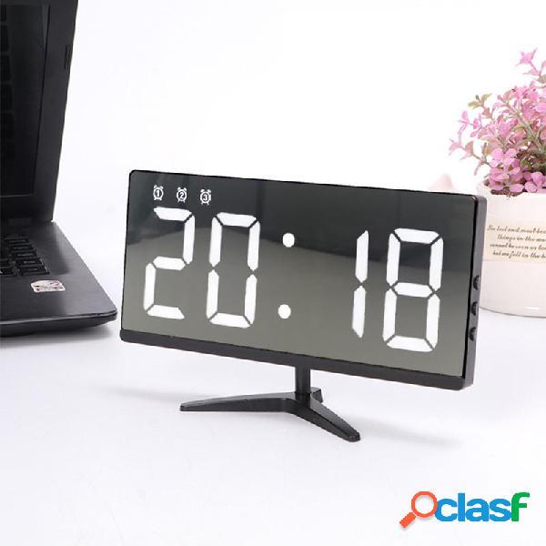 Sveglia creativa semplice orologio elettronico multifunzionale senza cornice che supporta lalimentazione esterna