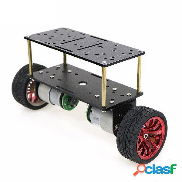 Ruota di plastica da 65 mm / pannello in alluminio nero con kit fai da te per robot da 65 mm con telaio intelligente a d