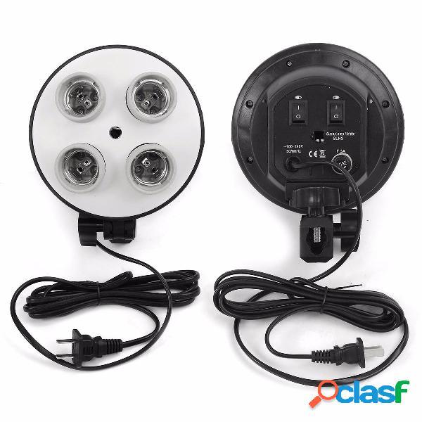 4 presa di corrente e27 luce per riprese video lampada supporto per testata
