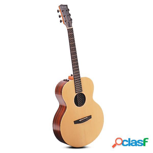 Enya ea-x2 / eq 41 pollici aj guitar engelman abete wood chitarra folk acustica