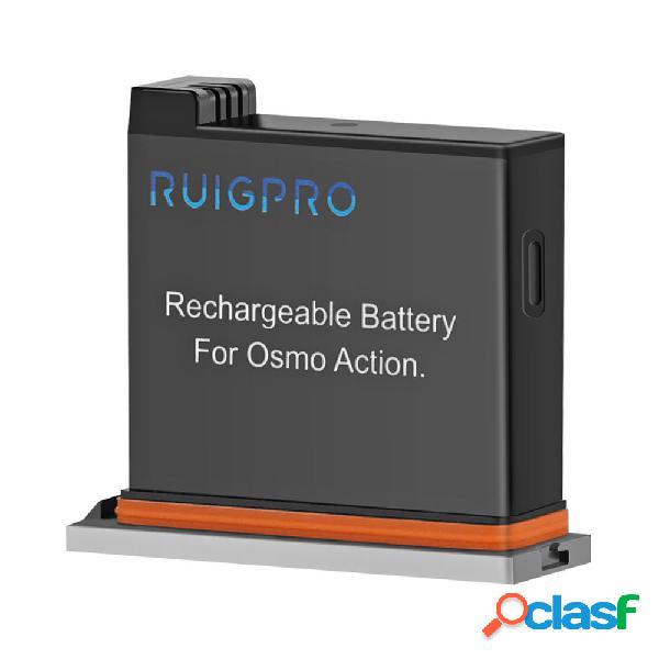 Ruigpro 4.4v 1300mah ricaricabile batteria per dji osmo action sport fotografica accessori