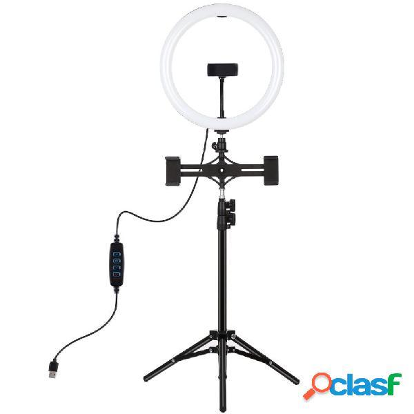 Puluz pkt3064b 11.8 pollici lampada video ad anello dimmerabile led con supporto per treppiede pu419 per youtube tik tok