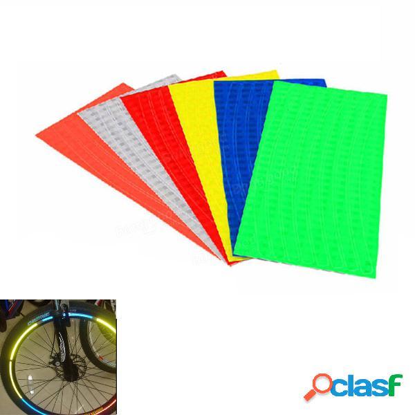 Ruota di bicicletta bici cerchi adesivi riflettenti luminosi