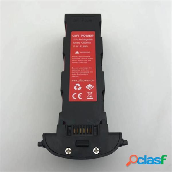 Gifi 11.4v 4200mah li-po modulare batteria per hubsan zino / zino pro h117s wifi fpv drone