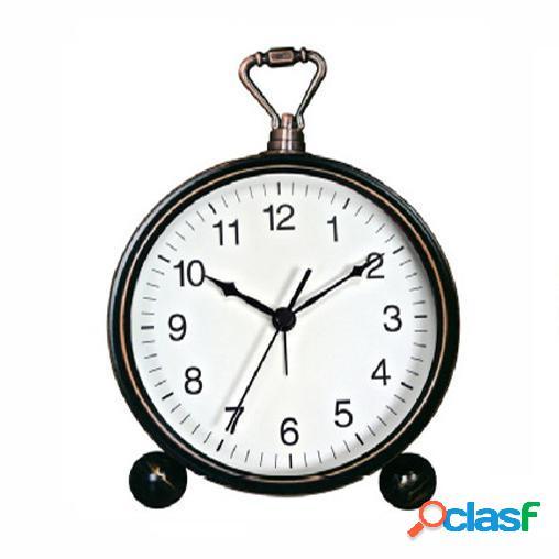 Vst orologio da comodino silenzioso in ferro battuto orologio da tavolo in ferro battuto