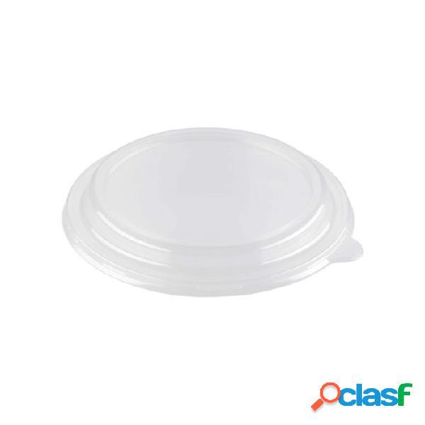 Coperchio monouso in pet trasparente per insalatiera duni bianco cm 19 - plastica monouso