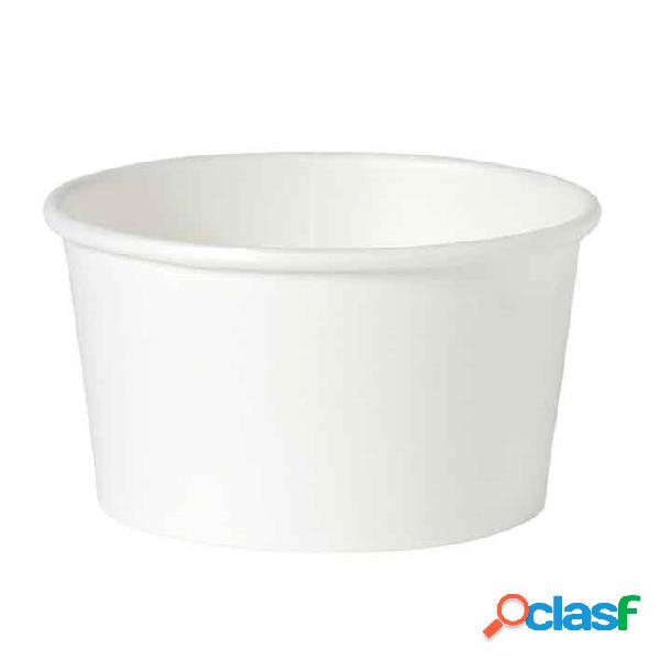 Ciotola minestra monouso duni in cartone bianco cl 40 - carta