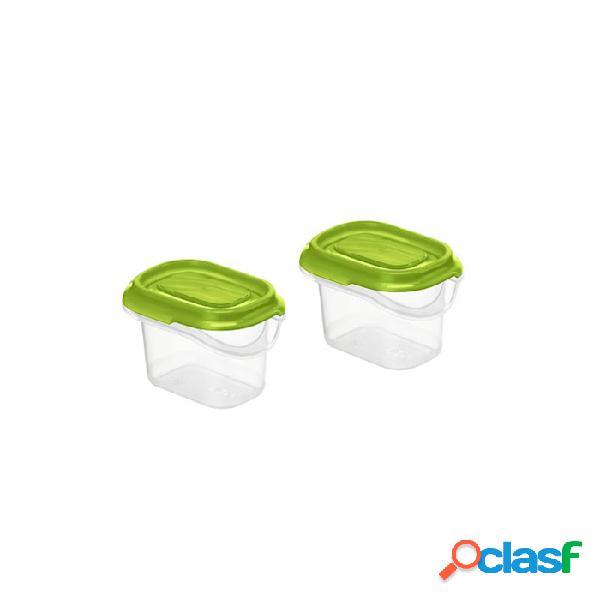 Contenitore frigo in polipropilene trasparente con tappo verde cl 7 - plastica riutilizzabile