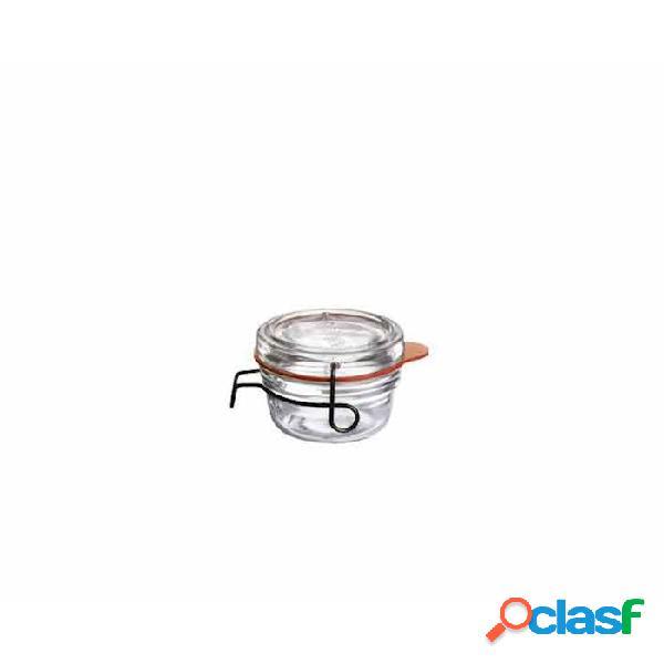 Vasetto lock-eat luigi bormioli con gancio e guarnizione cl 8 - vetro - trasparente