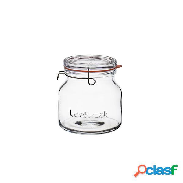 Barattolo jar lock-eat con gancio e guarnizione lt 1,5 - vetro - trasparente