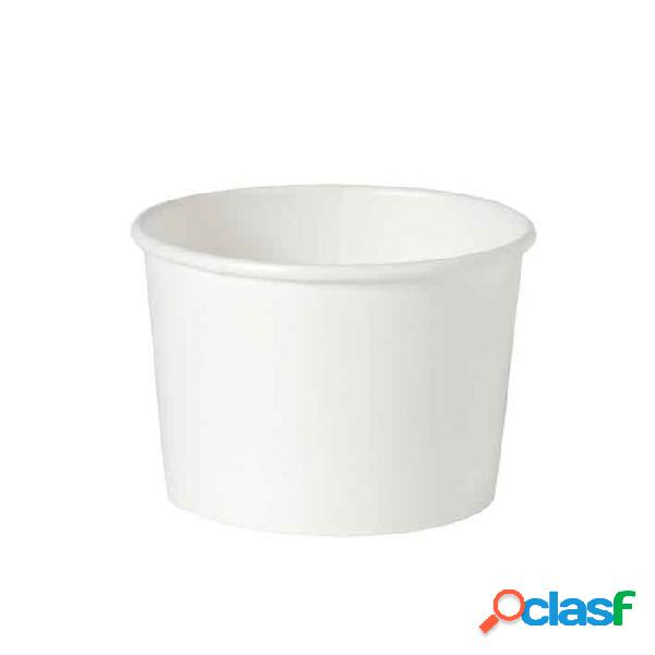 Ciotola minestra monouso duni in cartone bianco cl 25 - carta