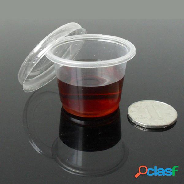 30pcs 35ml clear contenitori di contenitori con coperchi riutilizzabili per il laboratorio di accessori liquidi