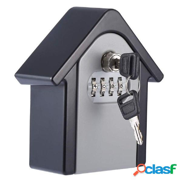 Lega di alluminio password scatola chiave a parete serratura scatola codice a 4 cifre combinazione di chiavi scatola per