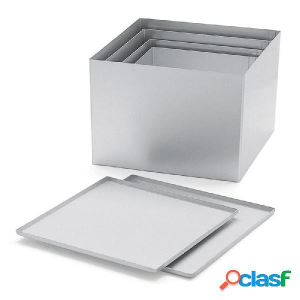 Scatola multiuso in alluminio anodizzato mini 20.5x20.5xh14.5 inclusa di coperchio