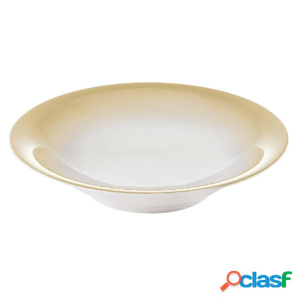Servizio piatti fondi 6 pezzi tavola grace sabbia da lavastoviglie decoro sottosmalto