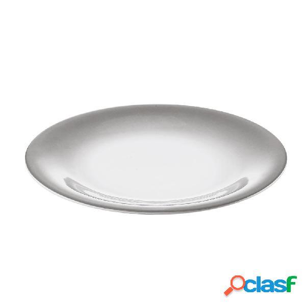 Servizio piatti piani 6 pezzi tavola grace grigio da lavastoviglie decoro sottosmalto