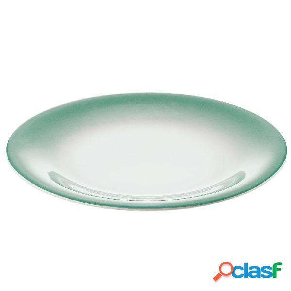 Servizio piatti frutta 6 pezzi tavola grace verde giada da lavastoviglie decoro sottosmalto