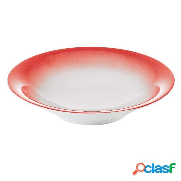 Servizio piatti fondi 6 pezzi tavola grace rosso da lavastoviglie decoro sottosmalto