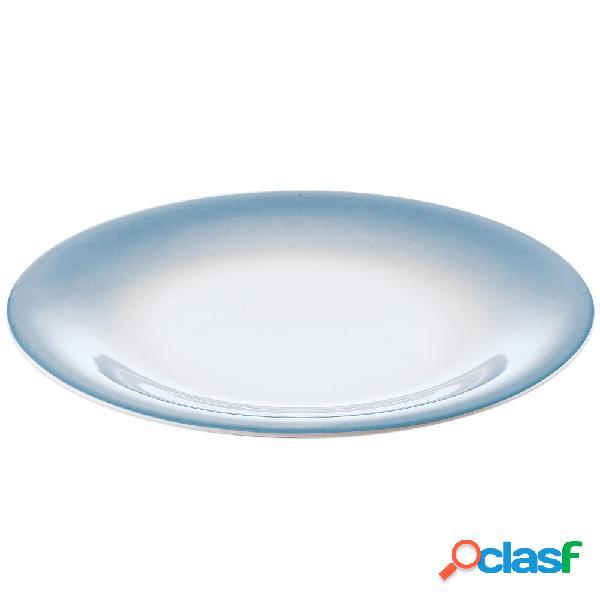 Servizio piatti frutta 6 pezzi tavola grace azzurro mare da lavastoviglie decoro sottosmalto