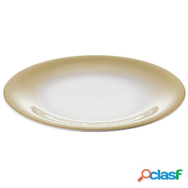 Servizio piatti frutta 6 pezzi tavola grace sabbia da lavastoviglie decoro sottosmalto