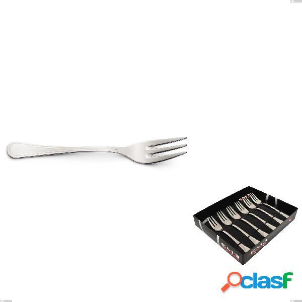 Confezione vetrina 6 pezzi forchettine dolce impero, acciaio inox 18.10(aisi304), spessore 2.5 mm