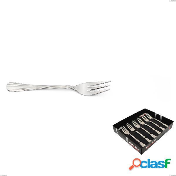 Confezione vetrina 6 pezzi forchettine dolce eden, inox 18.10 (aisi304), spessore 3.0 mm