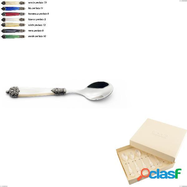 Confezione bomboniera 6 pezzi cucchiaini da caffè mirage, acciaio inox 18.10 (aisi 304)