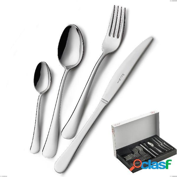 Confezione panoramica 30 pezzi coltello economico oxford, acciaio inox 18/c (aisi430), spessore 2.00 mm