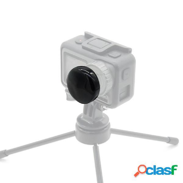 1 pezzo silicone protettivo lente coperchio nero / rosso per dji osmo action fpv fotografica