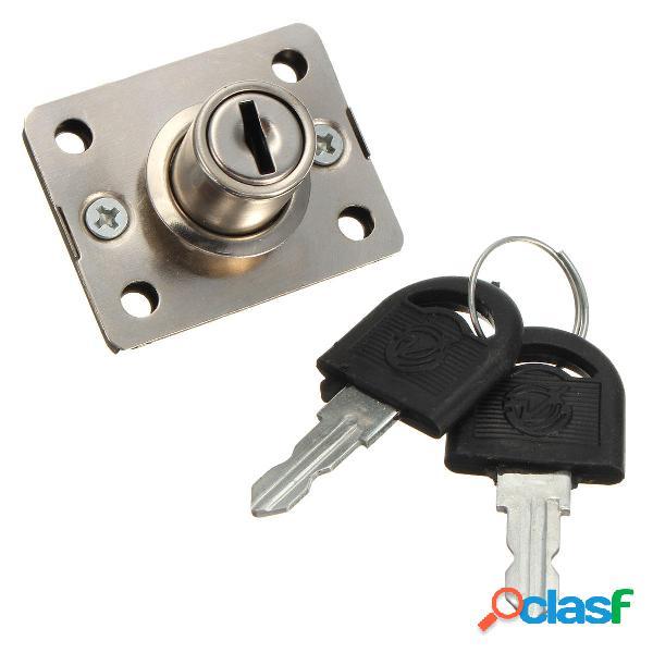 Cassetto della scrivania serratura catenaccio per cassetti di dialogo pannello di armadi armadio con due chiavi