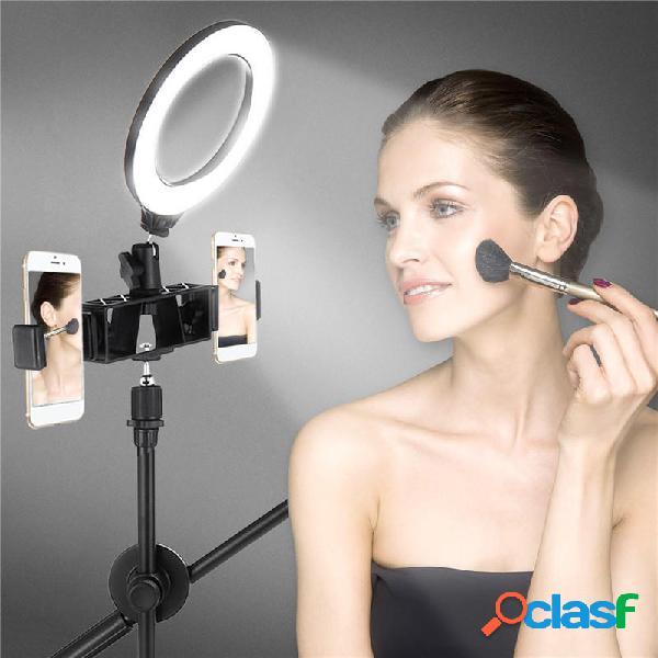 Dimmerabile led ring light kit + light stand 6500k fotografica photo video desktop lampada